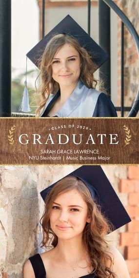 2020 Graduation Announcements 4x8 Flat Card Set, 85lb, Card & Stationery -2020 Graduate Laurels by Tumbalina