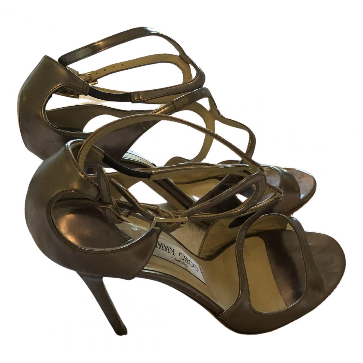 Jimmy Choo - Sandales Lance pour femme en cuir - metallise