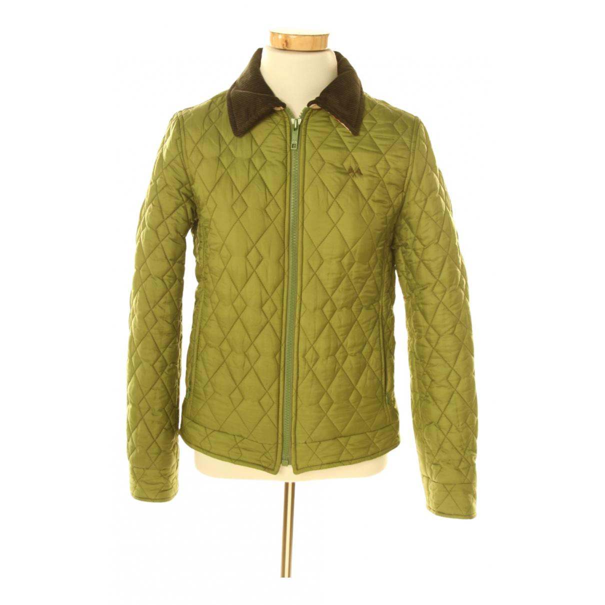Burberry \N Lederjacke in  Gruen Polyester