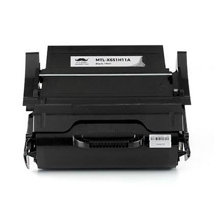 Lexmark X651H11A cartouche de toner remanufactur�e noire haute capacit� - Moustache�