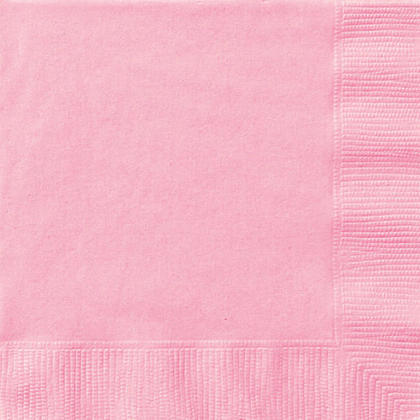 Party Luncheon Napkins Solid Color 33*33cm 13*13In 2-Ply Lovely Pink 20Pcs