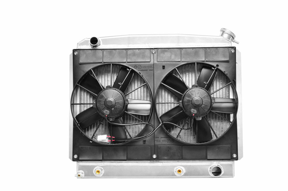 63-67 Chevy II Radiator LS Engine Drivers Side Upper Inlet Transmission Oil Cooler