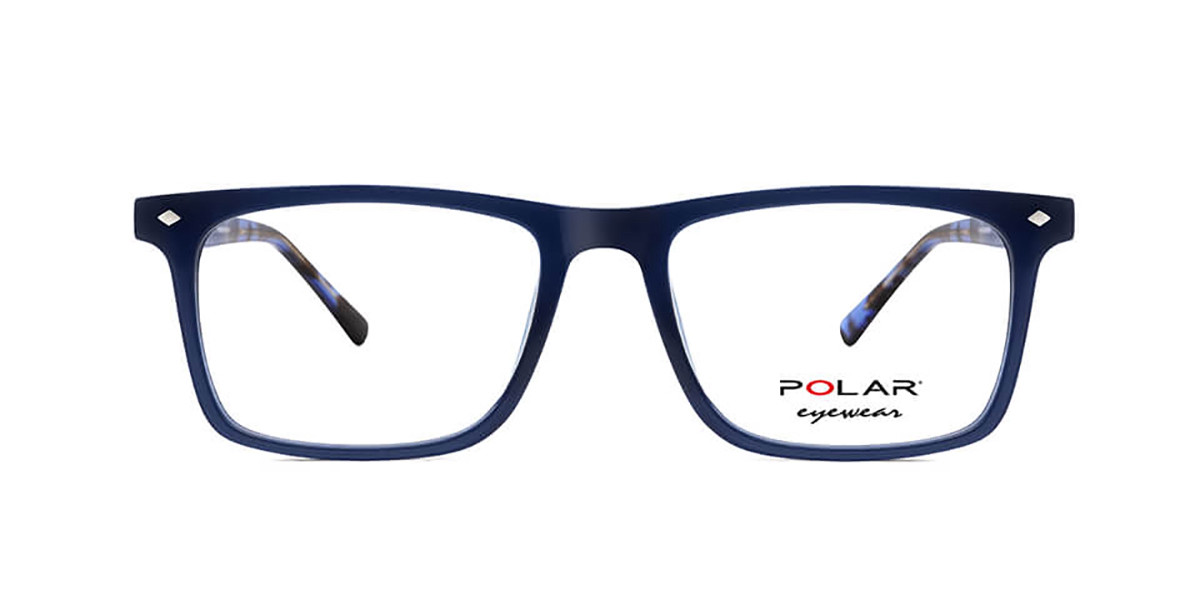Polar PL 1954 420 Mens Glasses Blue Size 51 - Free Lenses - HSA/FSA Insurance - Blue Light Block Available