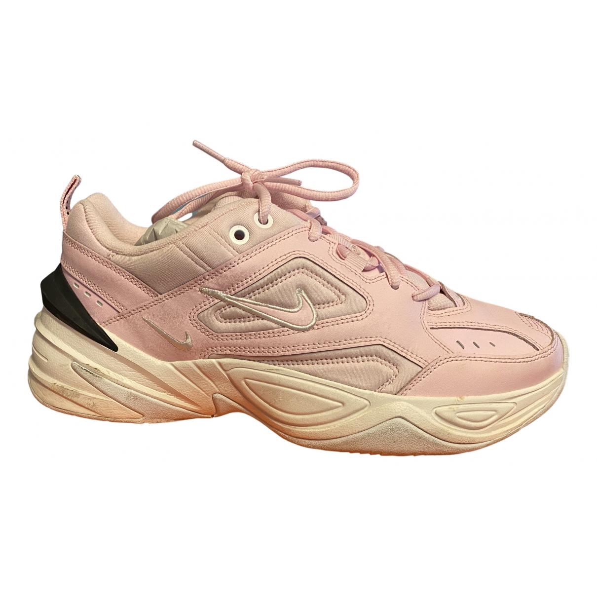 Nike - Baskets M2K Tekno pour femme en cuir - rose