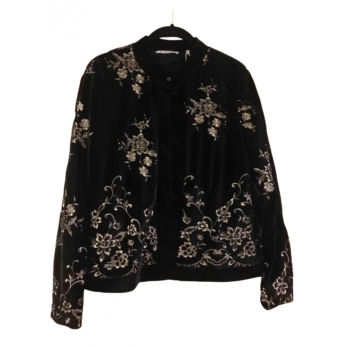 Non Signé / Unsigned \N Black Velvet jacket for Women S International