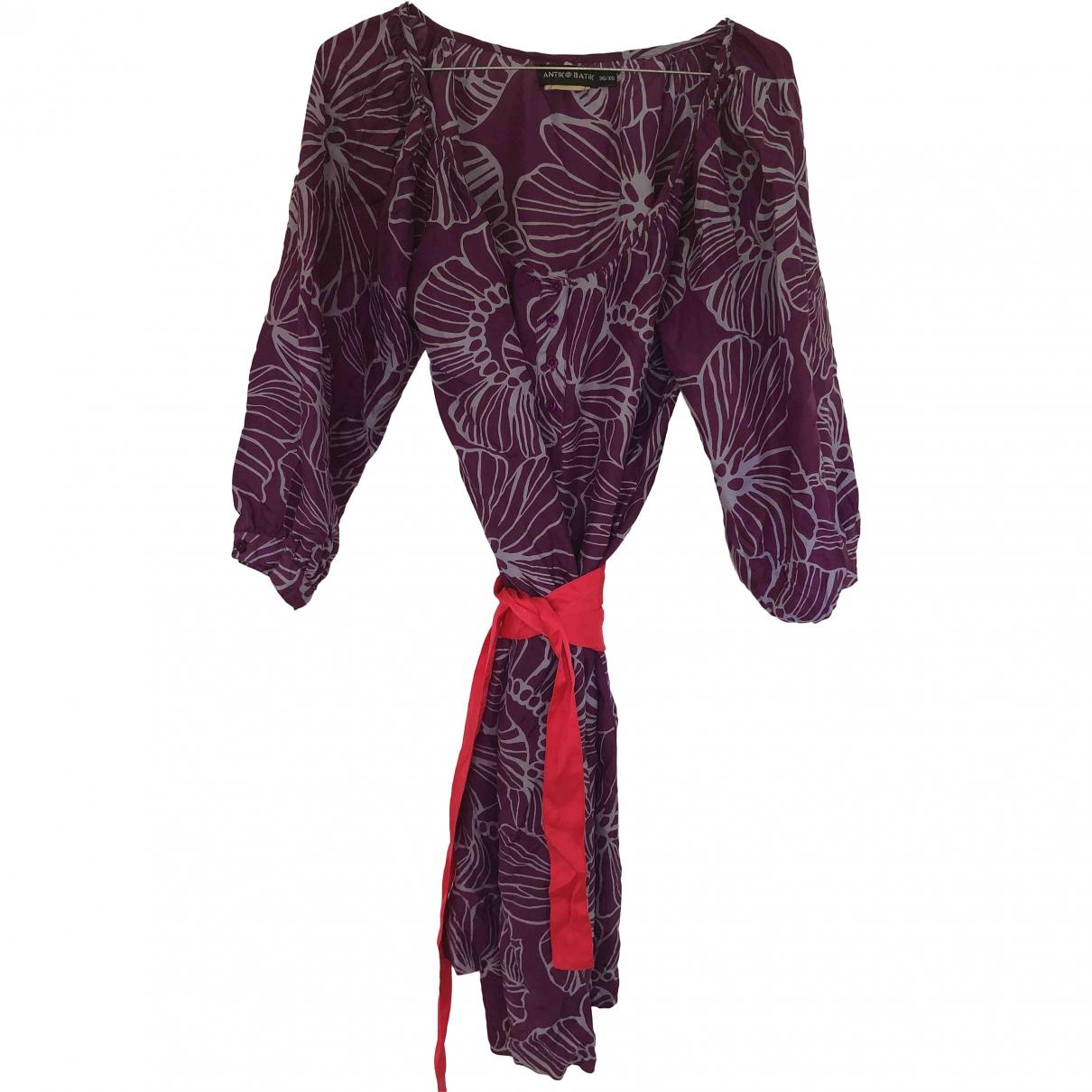Antik Batik \N Kleid in  Lila Seide