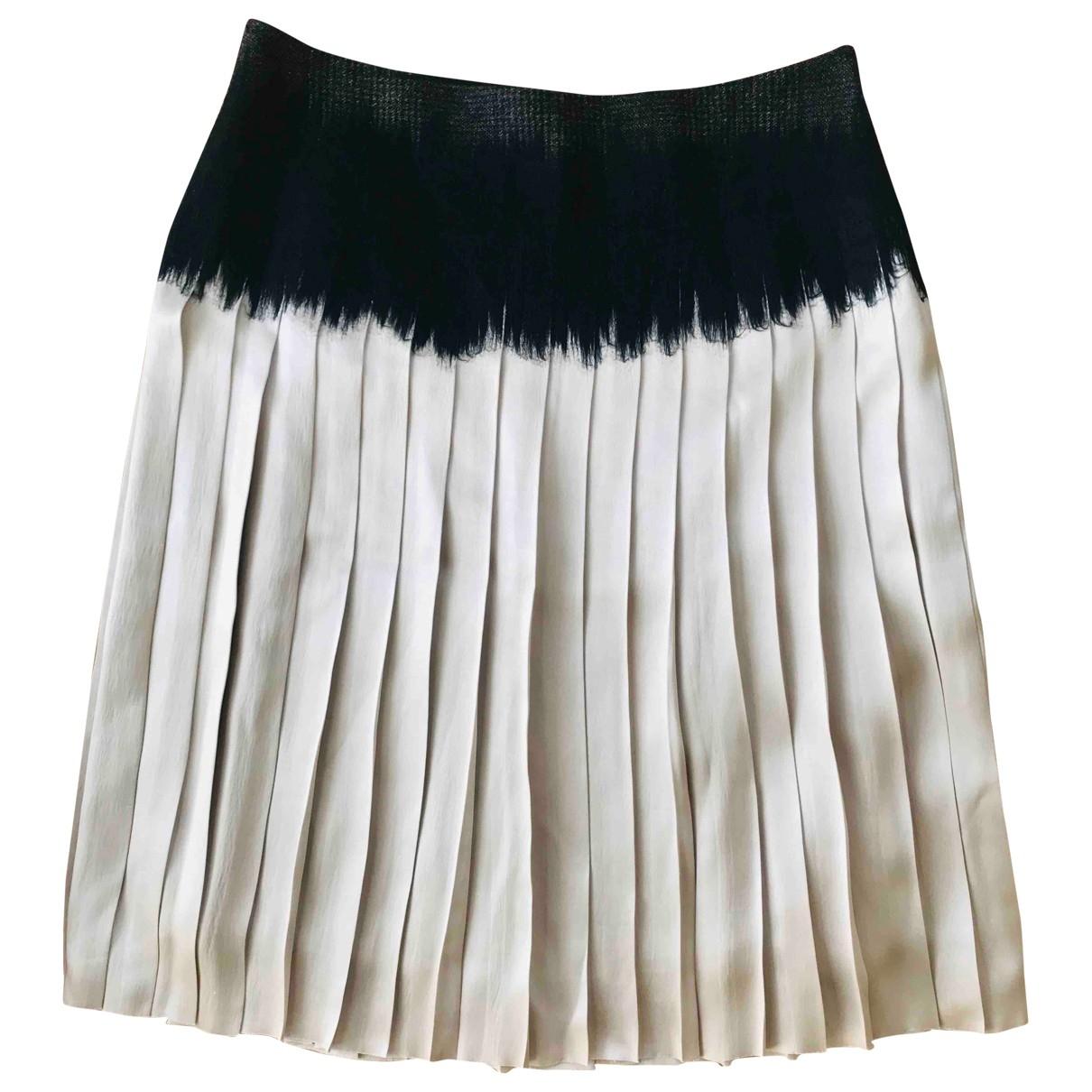 Salvatore Ferragamo - Jupe   pour femme en soie - blanc