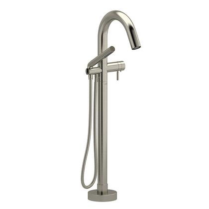 Pallace PA39BN-EX 2-Way Thermostatic Coaxial Floor Mount Tub Filler with Hand Shower  in Brushed