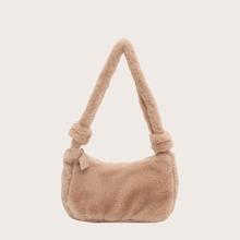 Bolsa baguette mullida minimalista de niñas