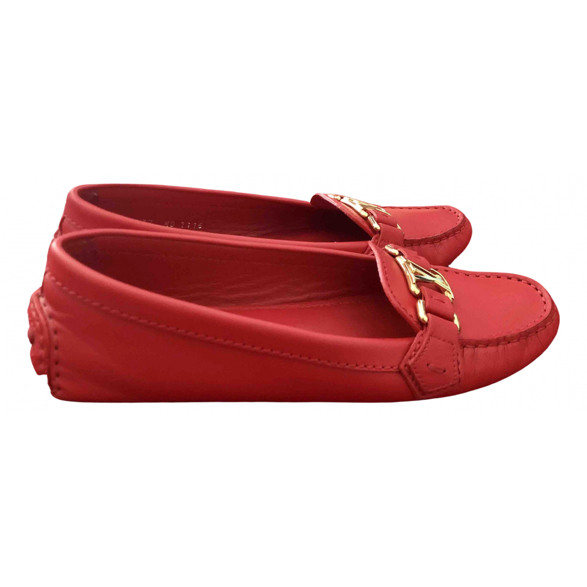 Louis Vuitton \N Red Leather Flats for Women 37 EU