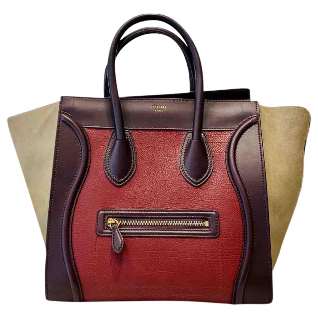 Celine Luggage Burgundy Leather handbag for Women \N