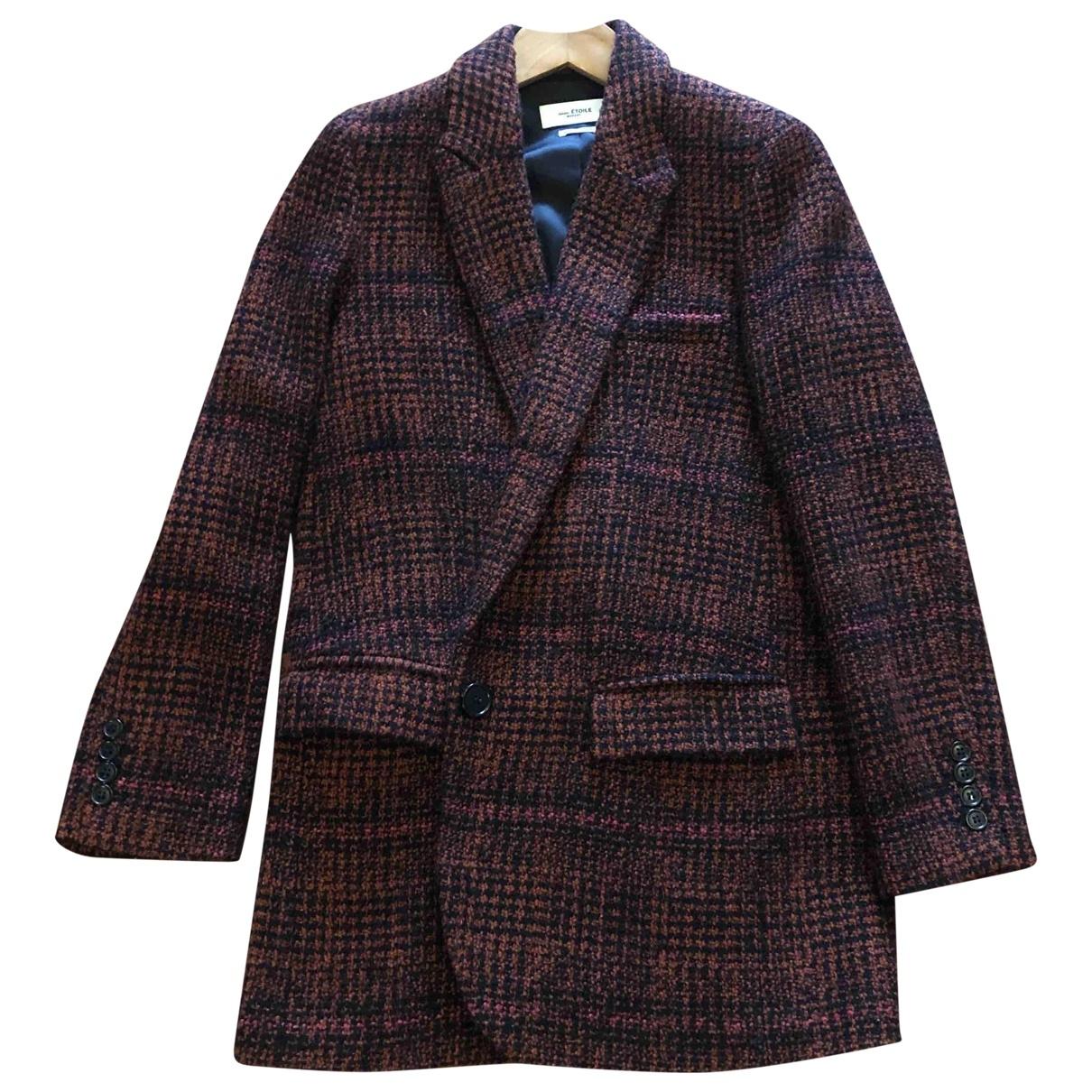 Isabel Marant Etoile - Manteau   pour femme en laine - rouge