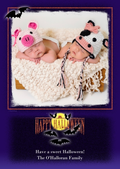 Halloween Photo Cards Flat Matte Photo Paper Cards with Envelopes, 5x7, Card & Stationery -Spooky Halloween