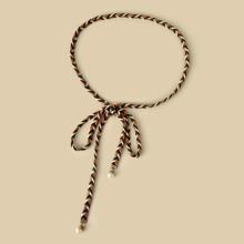 Cinturon de cuerda trenzada de color combinado