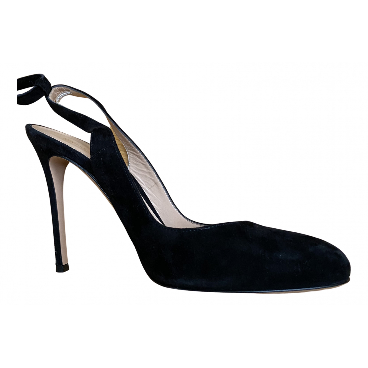Gianvito Rossi \N Pumps in  Schwarz Veloursleder