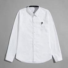 Camisas  para hombre Bordado Grafivo Trabajo