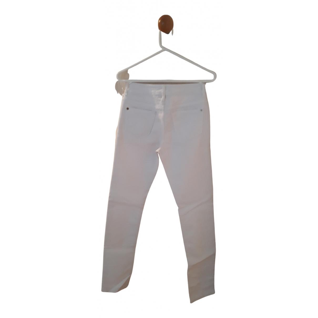 Closed - Jean   pour femme en coton - elasthane - blanc