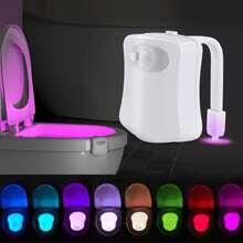 1 pieza lampara de induccion de retrete de 8 colores