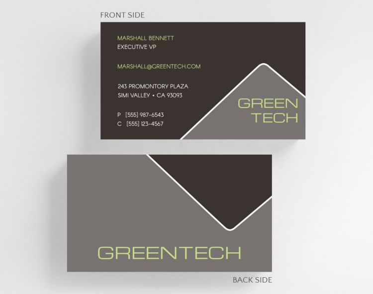 Measured Business Card Standard Size - Business Cards