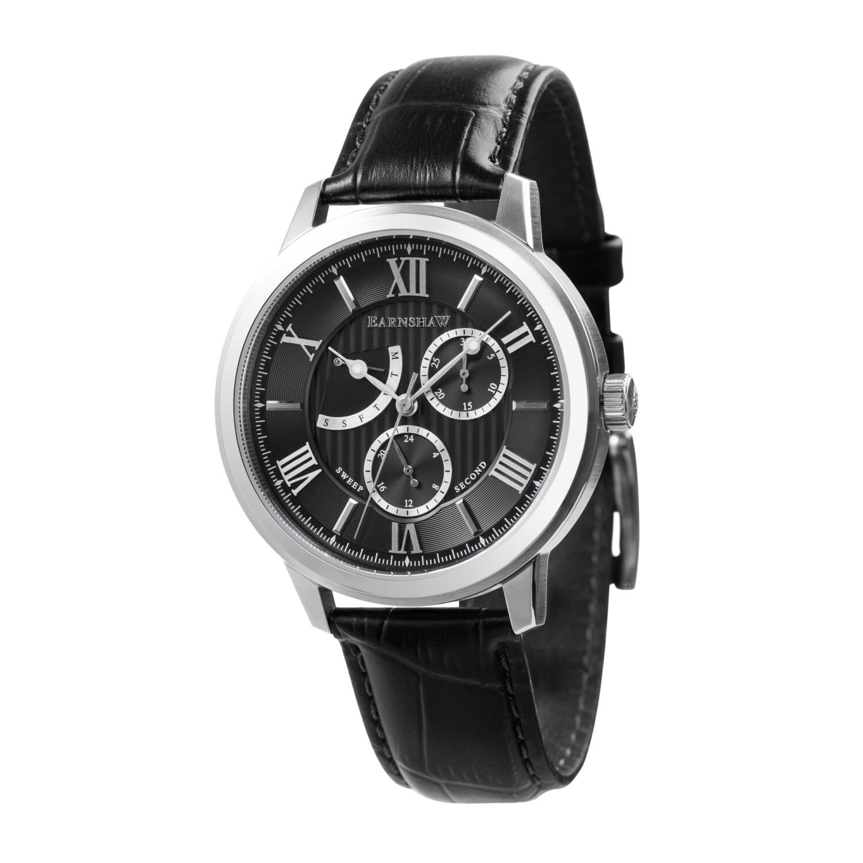 Thomas Earnshaw Men's Cornwall Quartz Renegade ES-8060-01 Black Leather Japanese Fashion Watch