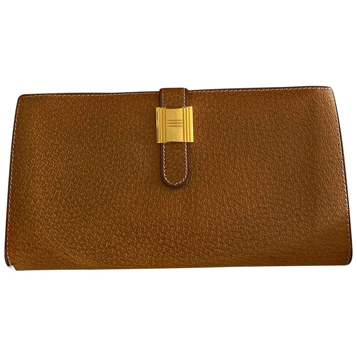 Hermès \N Brown Leather wallet for Women \N