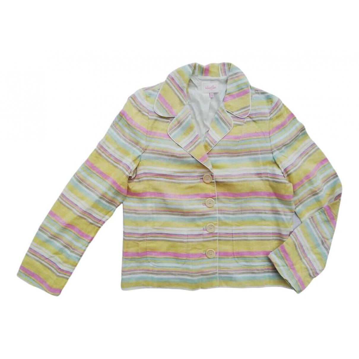 Whistles N Multicolour Linen jacket for Women 14 UK