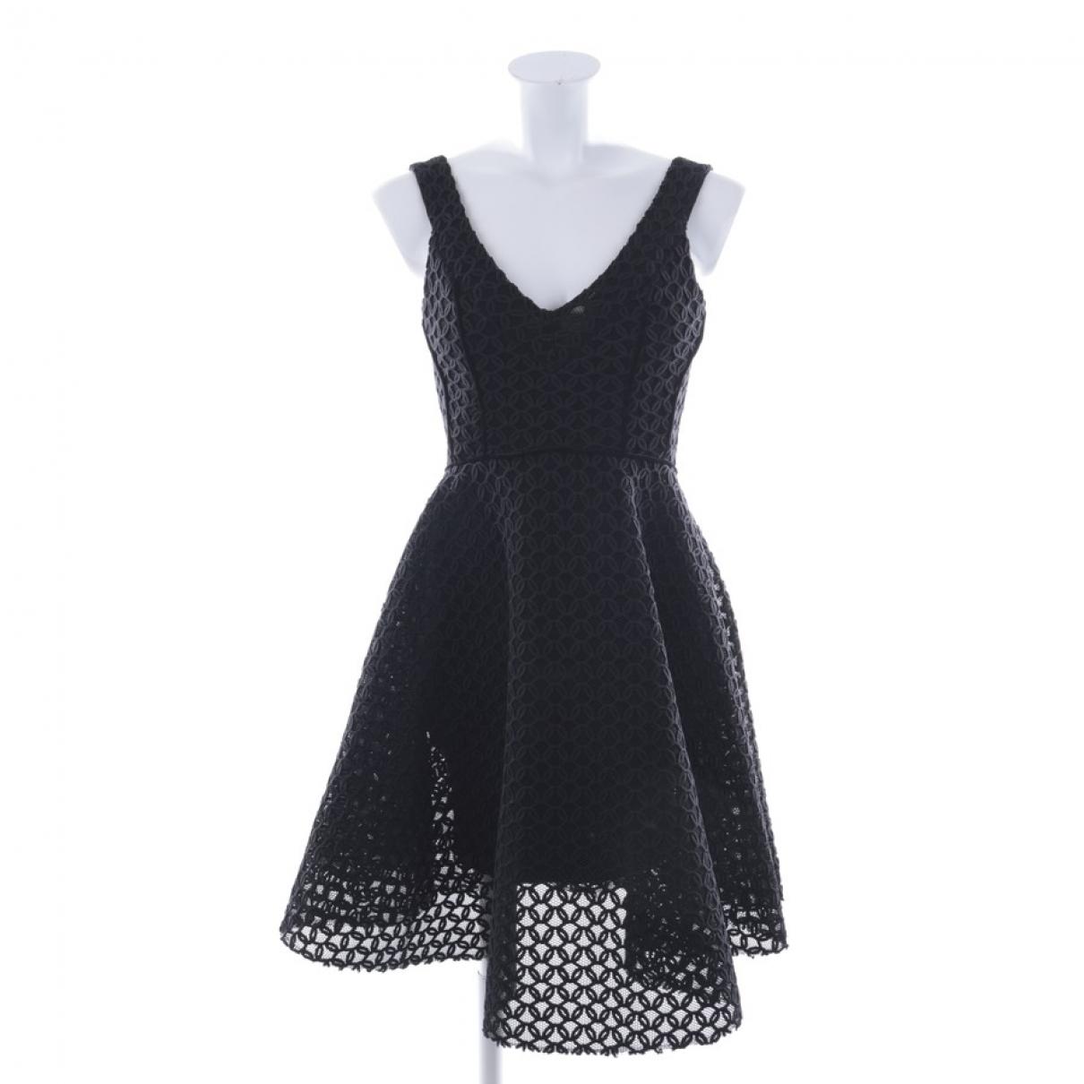 Maje \N Kleid in  Schwarz Synthetik