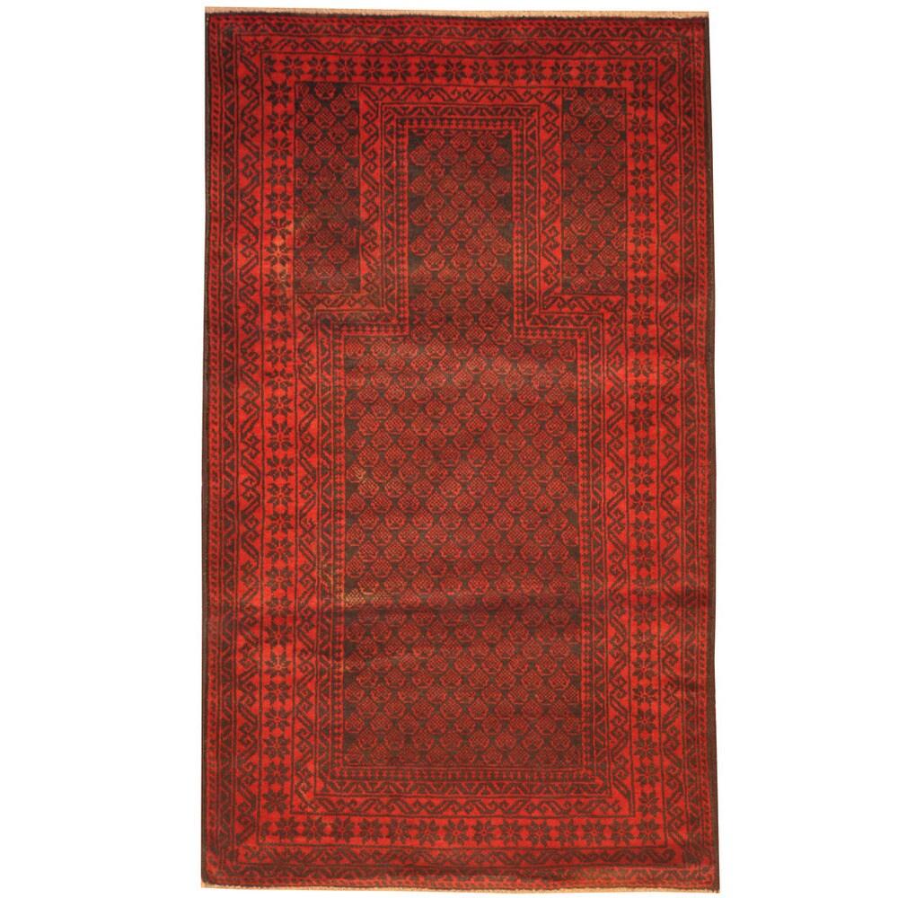 Handmade One-of-a-Kind Balouchi Wool Rug (Afghanistan) - 2'8 x 4'7 (2'8 x 4'7)