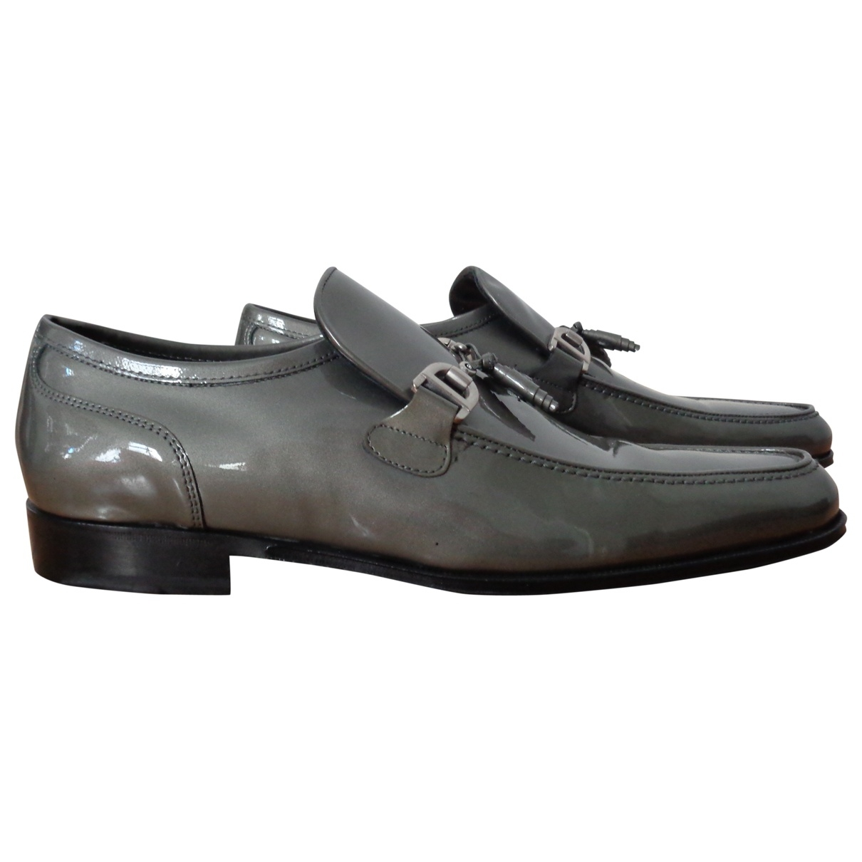 Dolce & Gabbana \N Grey Patent leather Flats for Men 40.5 EU