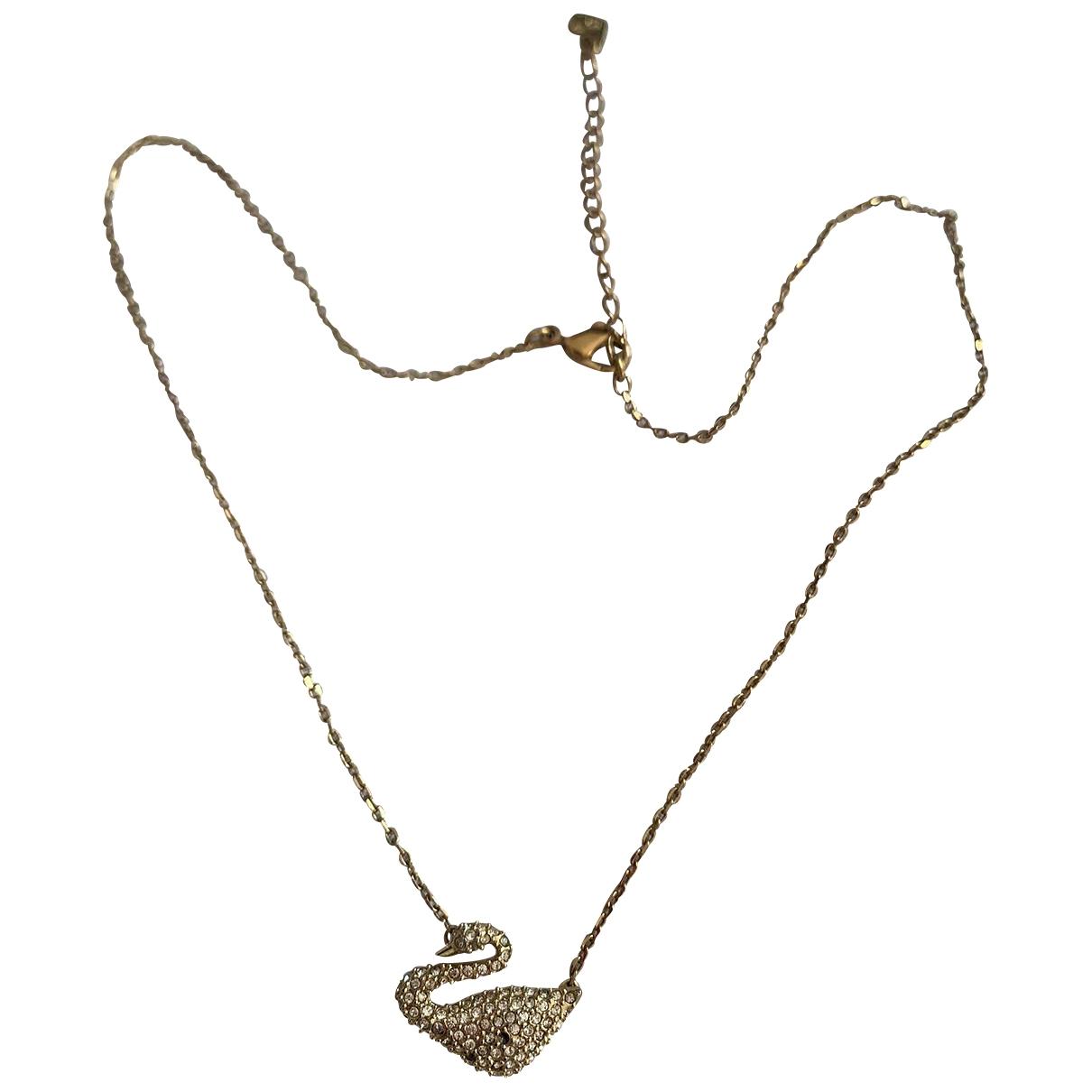 Swarovski - Collier   pour femme en cristal - dore