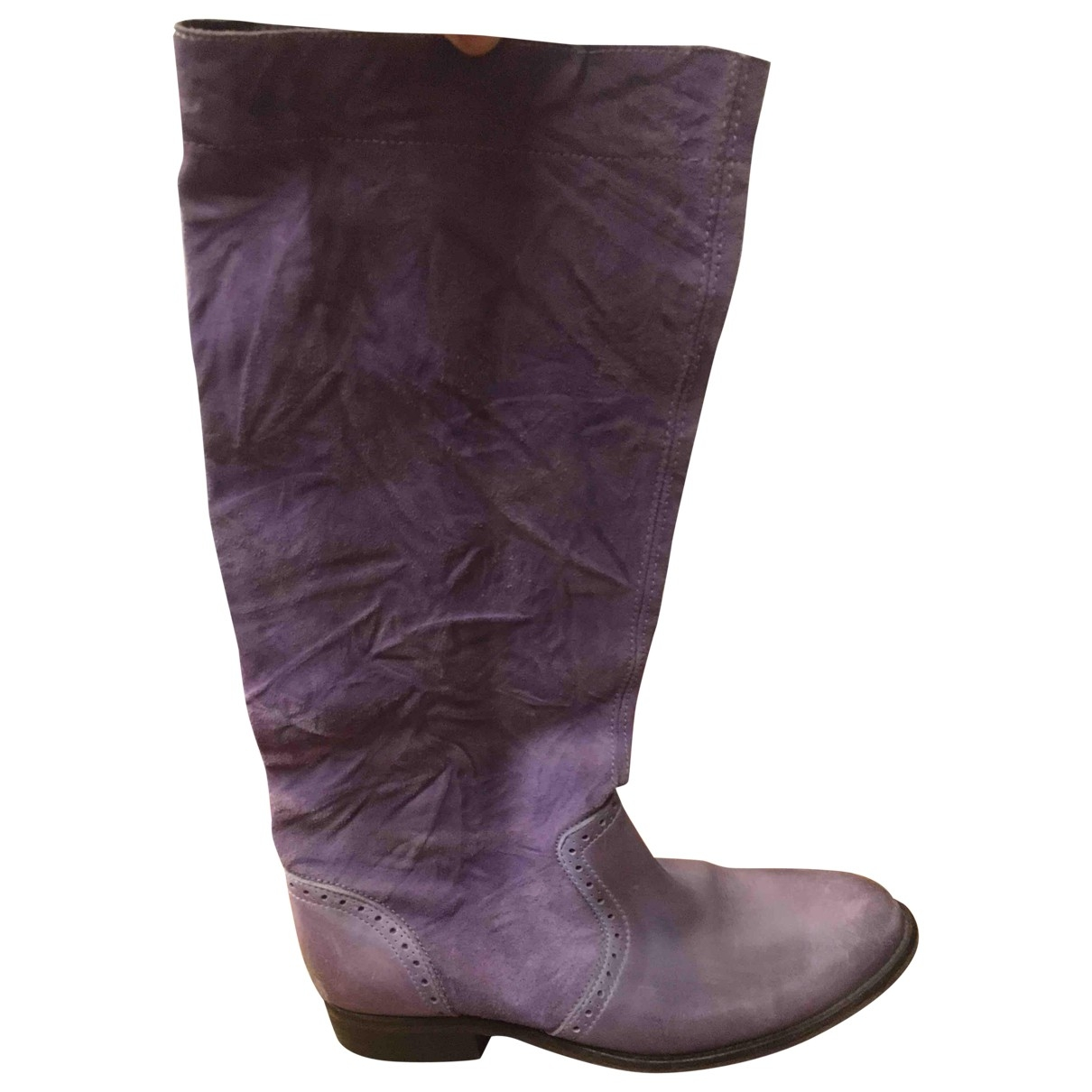 Diesel - Bottes   pour femme en suede - violet