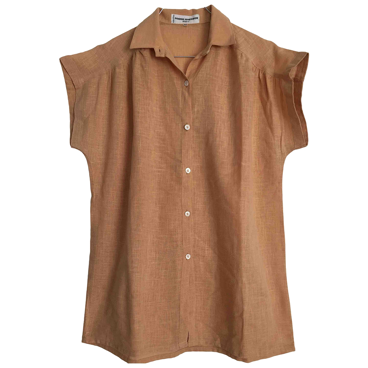 Non Signé / Unsigned \N Beige Cotton  top for Women 38 FR