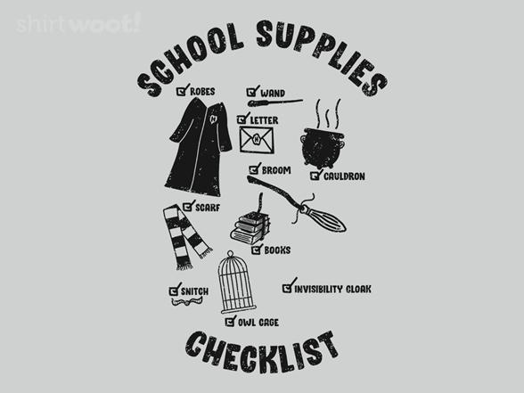 School Supplies T Shirt