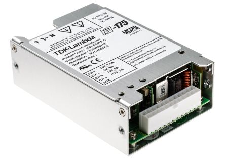 TDK-Lambda , 180W Embedded Switch Mode Power Supply SMPS, 5 V dc, ±15 V dc, ±24 V dc, Enclosed, Medical Approved