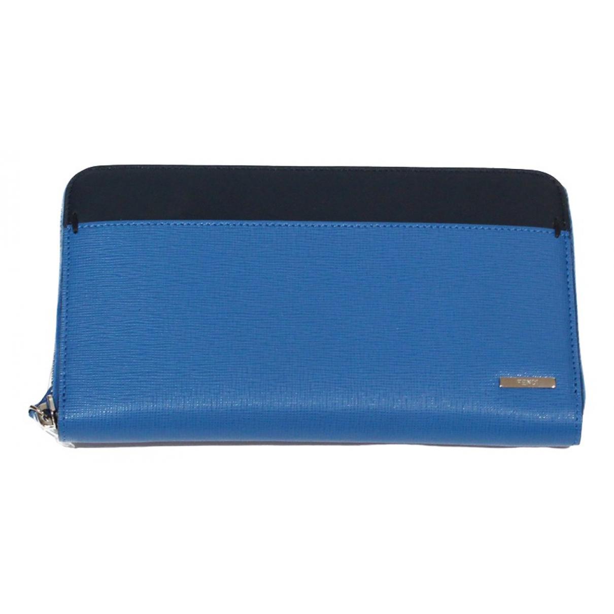 Fendi \N Blue Leather wallet for Women \N