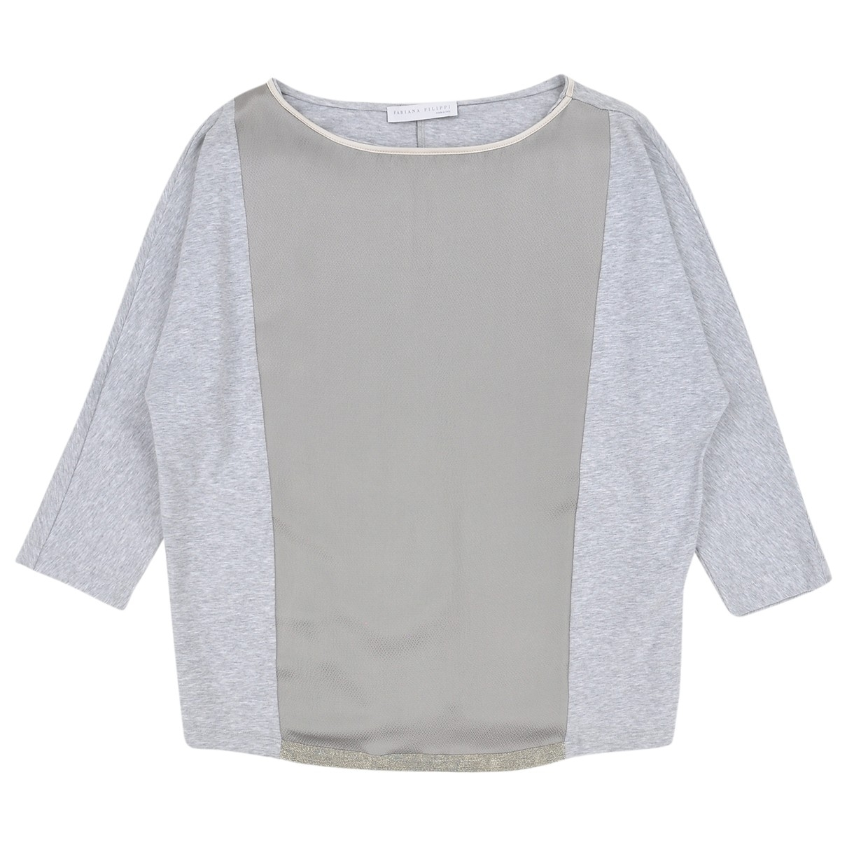Fabiana Filippi - Top   pour femme en coton - gris