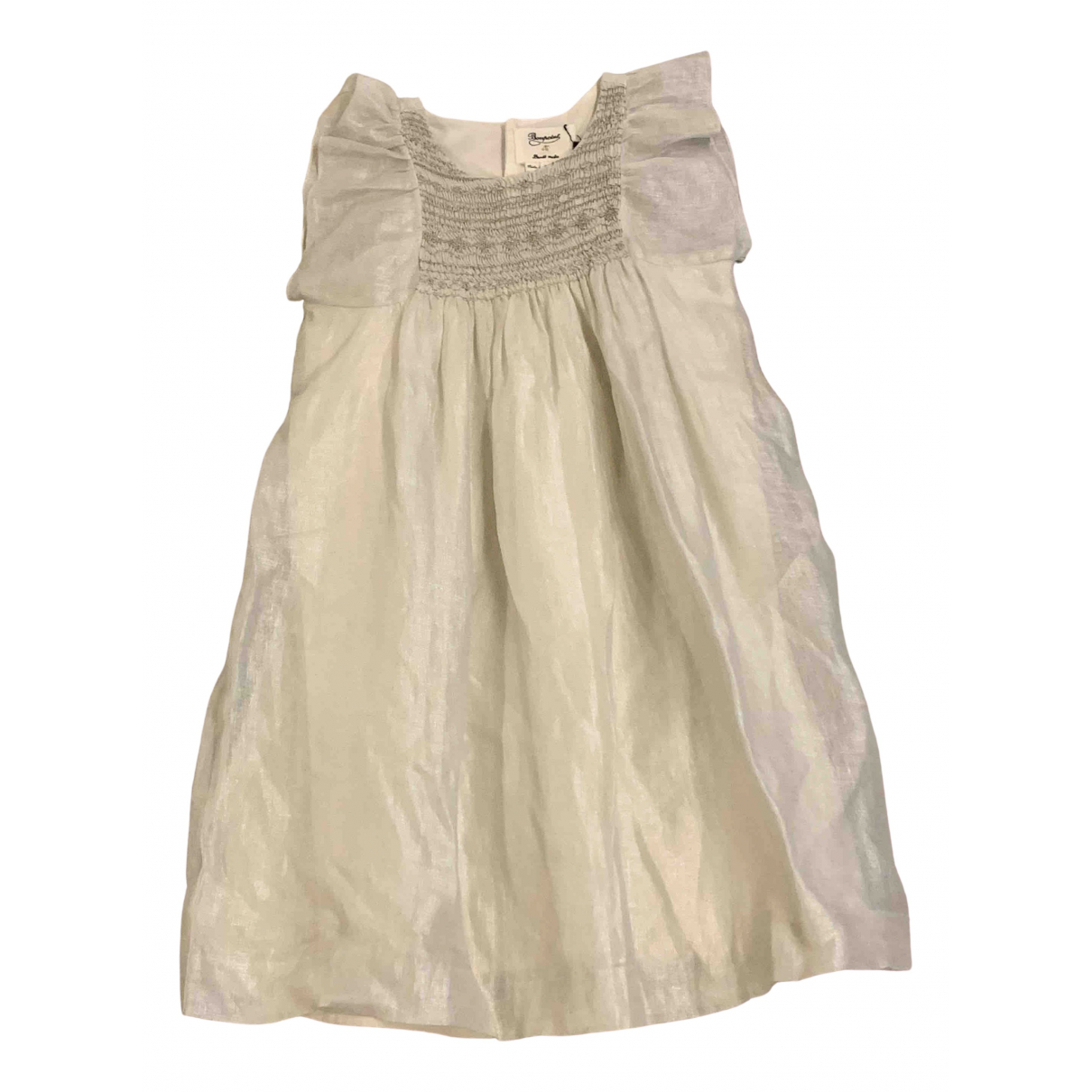 Bonpoint \N Beige Linen dress for Kids 8 years - up to 128cm FR