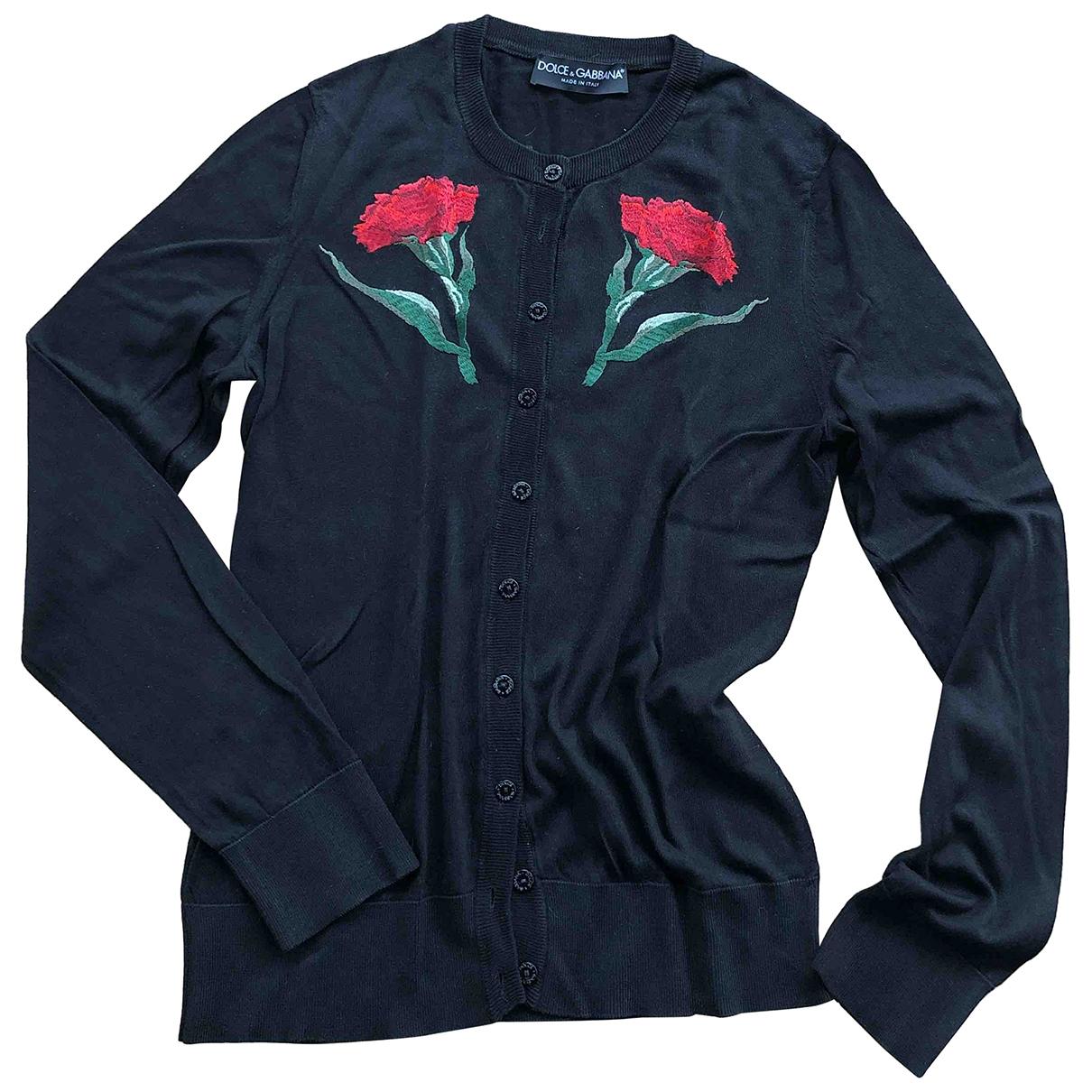 Dolce & Gabbana - Pull   pour femme en soie - noir