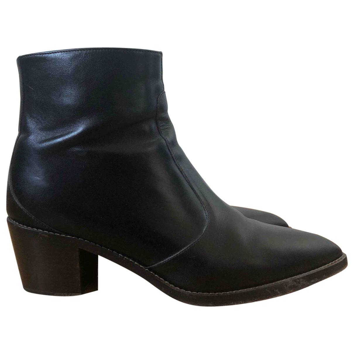 Vanessa Bruno - Boots   pour femme en cuir - marron