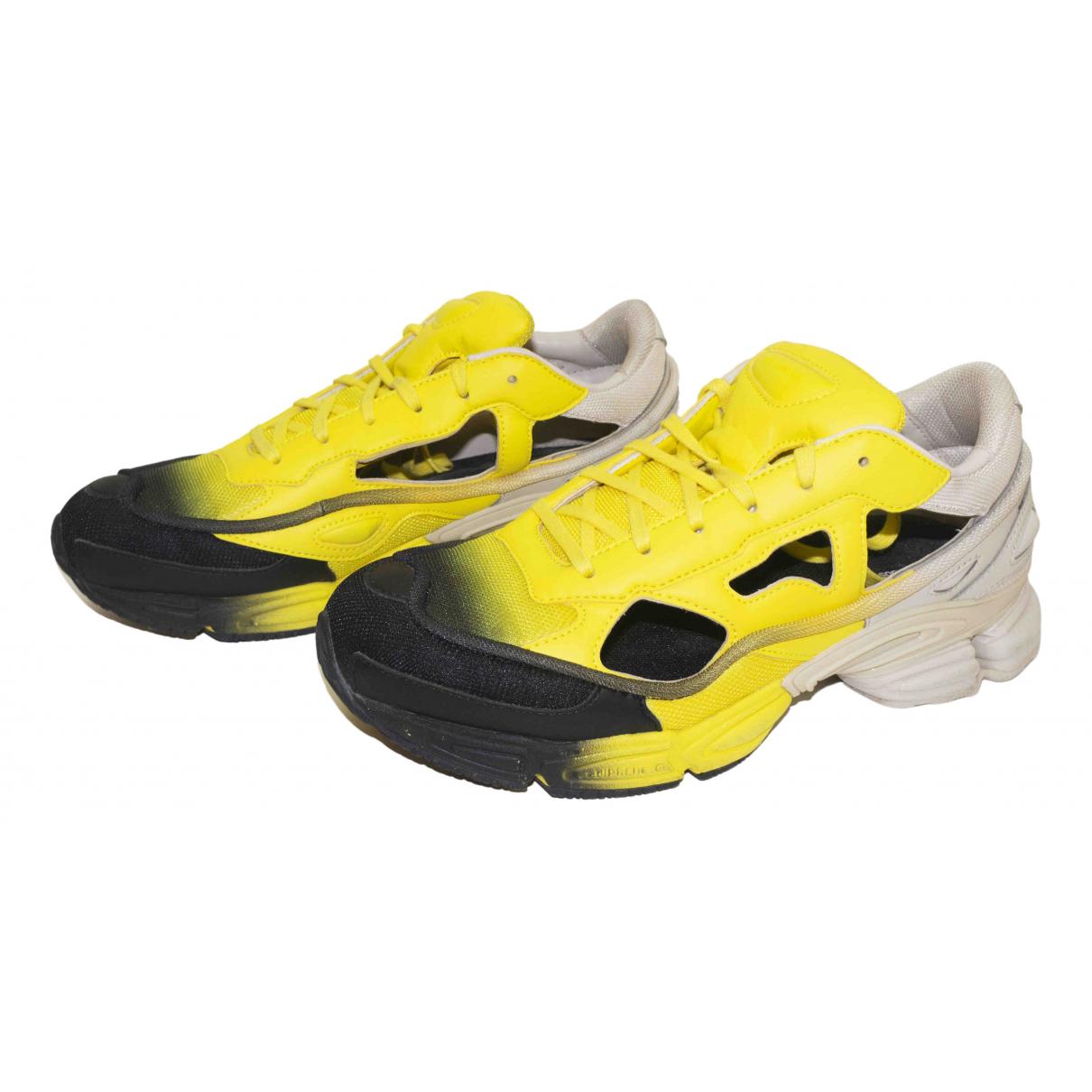 Adidas X Raf Simons - Baskets Replicant Owzeego pour homme en cuir - jaune