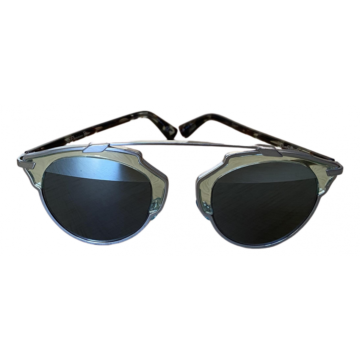 Dior So Real  Silver Metal Sunglasses for Women N