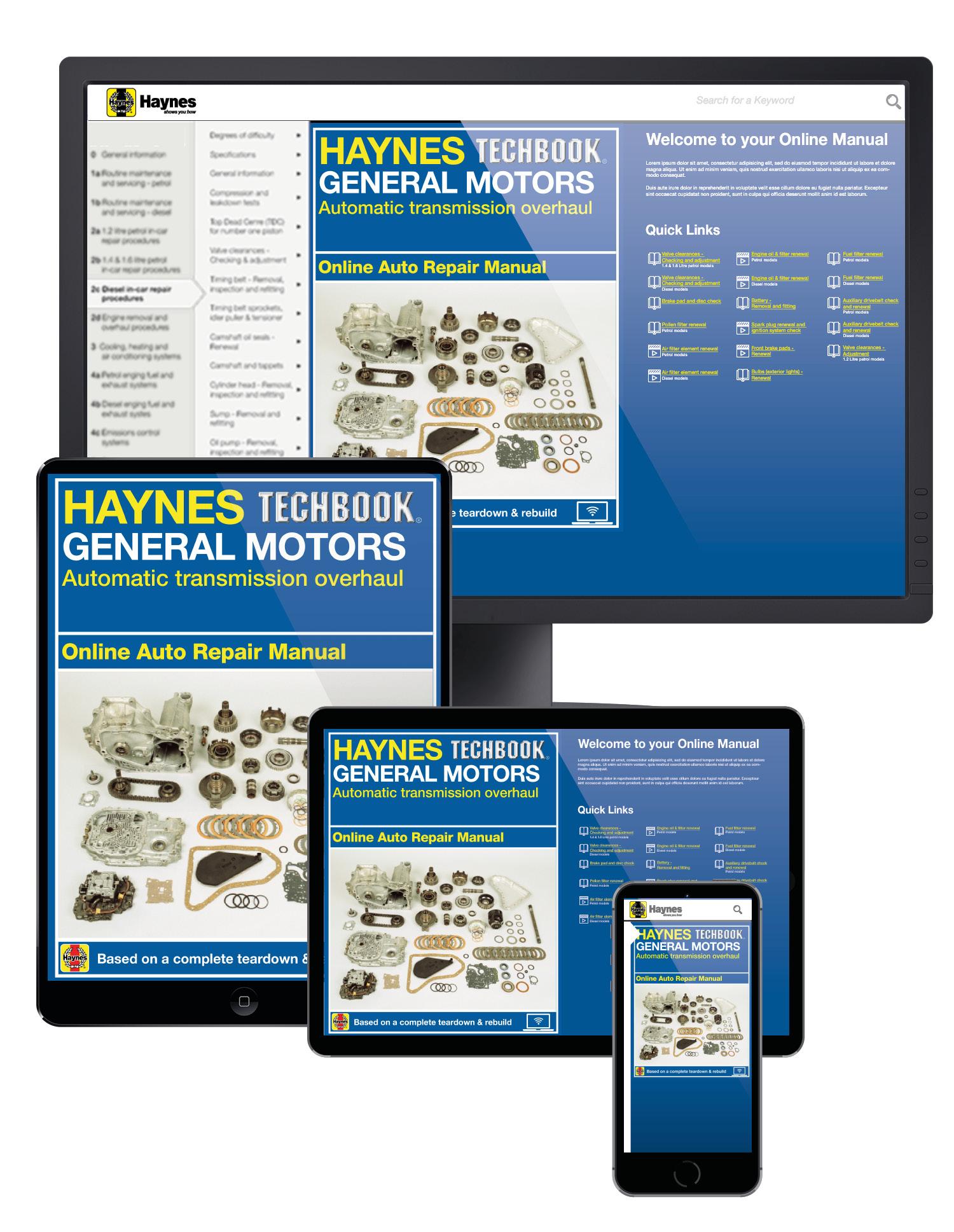 General Motors Automatic Transmission Overhaul Haynes Online Manual