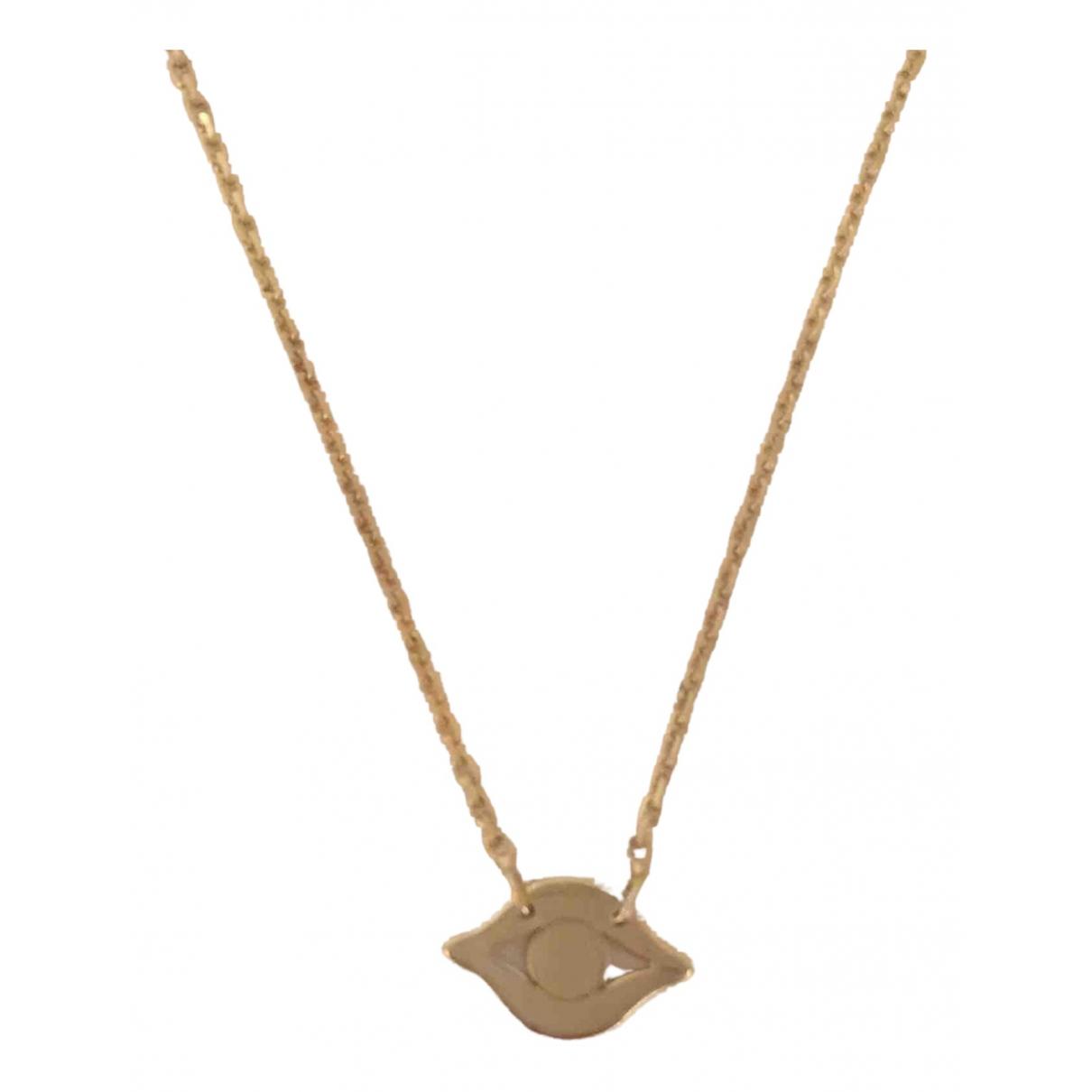 - Collier Motifs Ethniques pour femme en plaque or - dore