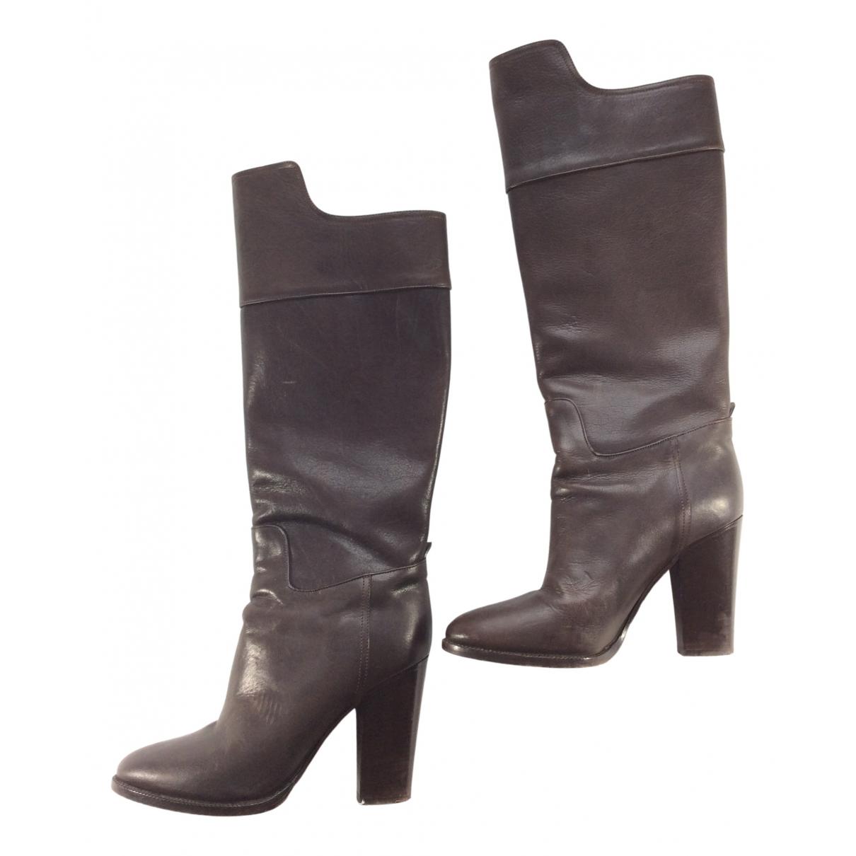 Ralph Lauren Collection \N Stiefel in  Braun Leder