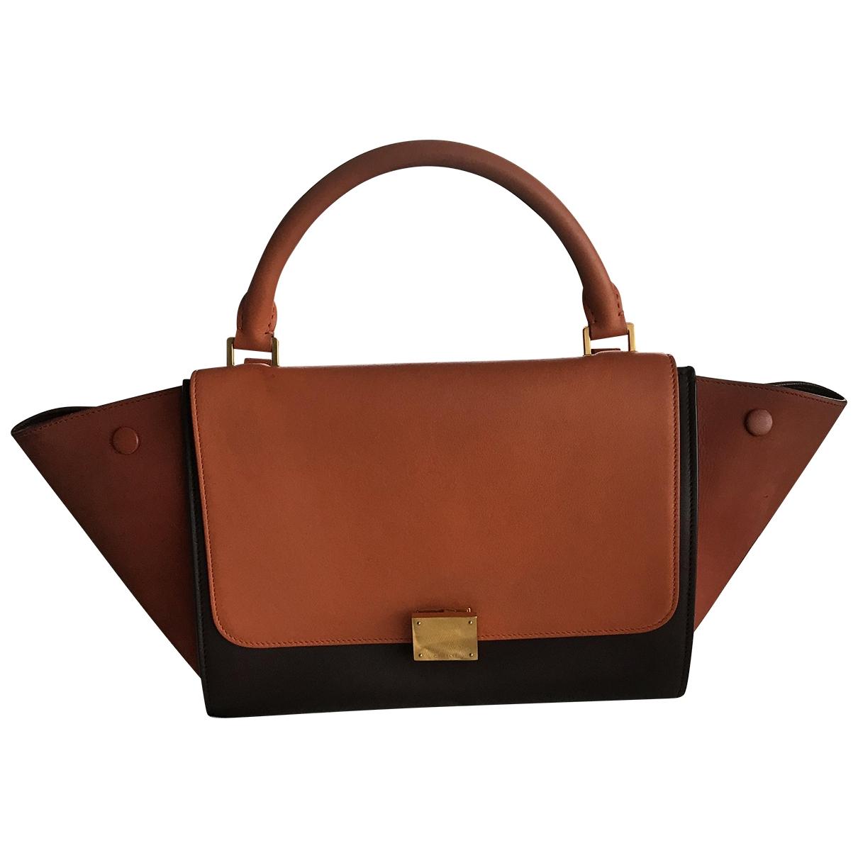 Celine Trapèze Orange Leather handbag for Women \N