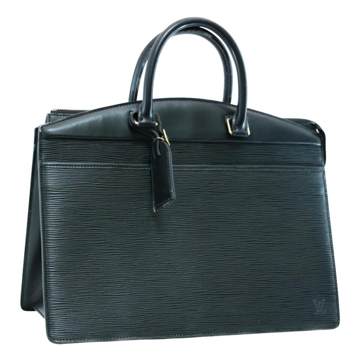 Louis Vuitton - Sac a main Riviera  pour femme en cuir verni - noir