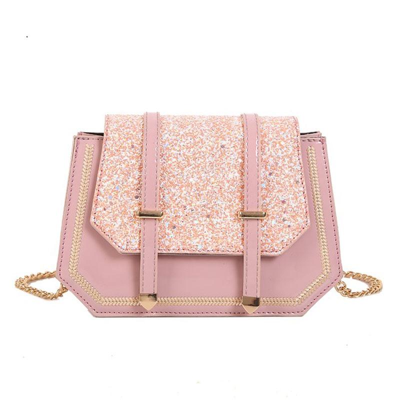 Ericdress PU Sequin Belt-Decorated Crossbody Bags
