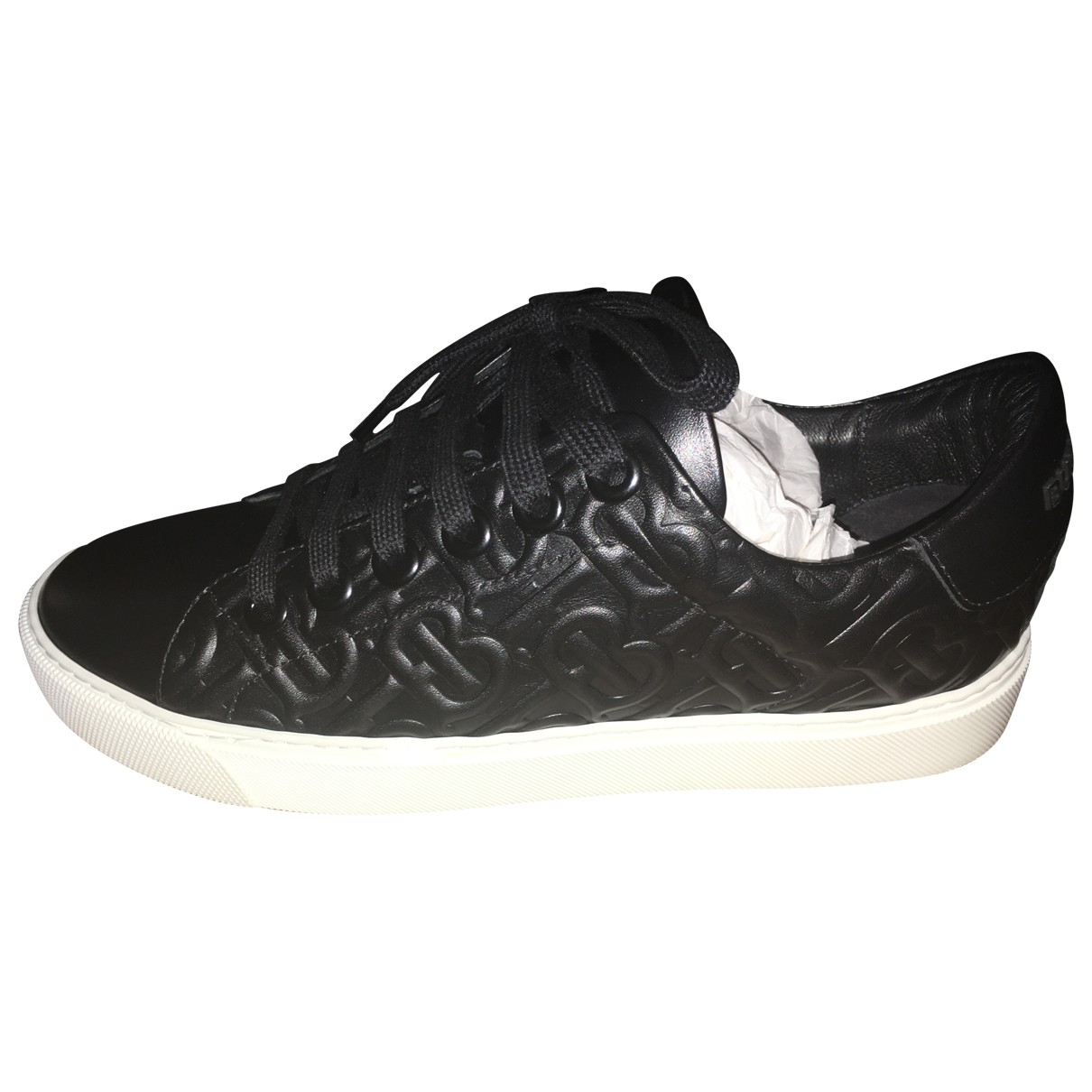 Burberry \N Black Leather Trainers for Women 37 IT