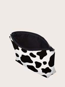 Cow Print Makeup Bag