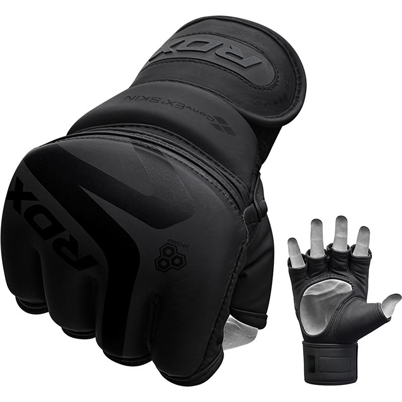 RDX F15 MMA Training Gloves PU Leather Extra Large Black